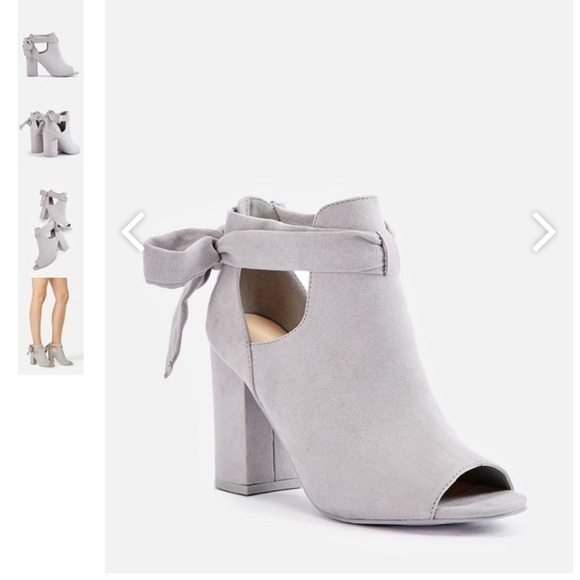 48d394884 JustFab Shoes - JustFab 🎀 NWOT Bowa Tie Open Toe Bootie Heel
